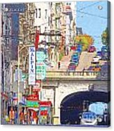 Stockton Street Tunnel In San Francisco . 7d7355 Acrylic Print