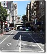 Stockton Street Tunnel In San Francisco Acrylic Print