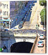 Stockton Street Tunnel Midday Late Summer In San Francisco Acrylic Print