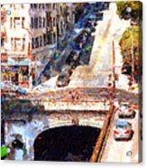 Stockton Street Tunnel San Francisco . 7d7499 Acrylic Print by Wingsdomain Art and Photography