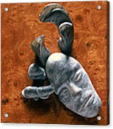 Stone Aged Spirit Acrylic Print by Charles Dancik