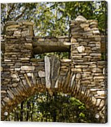Stone Archway At The Entrance Acrylic Print by Todd Gipstein