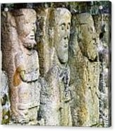 Stone Carving Figures Acrylic Print