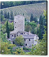 Stone Farmhouse Near Montefioralle Acrylic Print by Jeremy Woodhouse