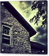 Stone House In Storm Acrylic Print
