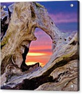 Stone Lagoon Sunset Redux Acrylic Print