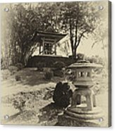 Stone Lantern And Temple Bell Acrylic Print