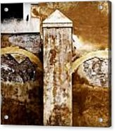 Stone Sight - Two Arches And A Column Draws A Disturbing Almost Human Face Acrylic Print