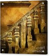 Stone Stairs And Balustrade. Acrylic Print by Bernard Jaubert