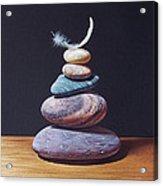 Stone Tower 1 Acrylic Print by Elena Kolotusha