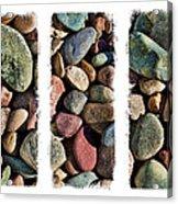 Stone Triptych 3 Acrylic Print