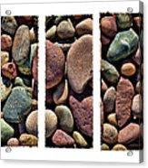 Stone Triptych Acrylic Print