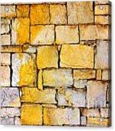 Stone Wall Acrylic Print by Carlos Caetano