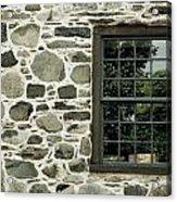 Stone Wall With A Window Acrylic Print