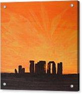 Stonehenge At Sunrise Acrylic Print