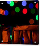 Stonehenge In Starry Night Acrylic Print