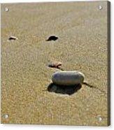Stones In The Sand Acrylic Print