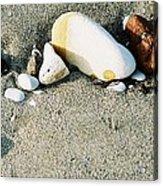 Stones On The Beach Acrylic Print