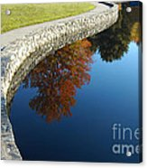 Stonewall And Autumn Reflections Acrylic Print