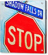 Stop Sign Sketchbook Project Down My Street Acrylic Print