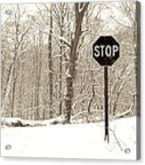 Stop Snowing Acrylic Print