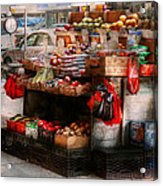 Store - Ny - Chelsea - Fresh Fruit Stand Acrylic Print by Mike Savad