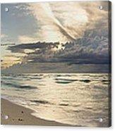 Storm Approaches Miami Beach Acrylic Print by Matt Tilghman