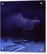 Storm At Dawn Acrylic Print by Bob Whitt