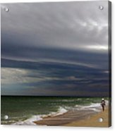 Storm Beach Acrylic Print by Barry Goble