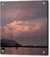 Storm Clouds At Sunset Acrylic Print