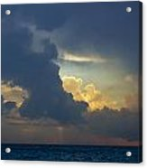 Storm Clouds At Sunset Over Lake Michigan Acrylic Print