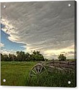 Storm Clouds Gather Over An Abandoned Acrylic Print