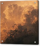 Storm Clouds Gather Over The Badlands Acrylic Print
