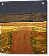 Storm Clouds In Saskatchewan Acrylic Print by Mark Duffy