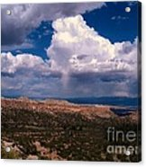 Storm Clouds Over Bandalier National Monument Acrylic Print by Donna Parlow