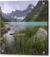 Storm Clouds Over Chephren Lake, Banff Acrylic Print