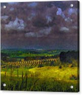 Storm Clouds Over Meadow Acrylic Print
