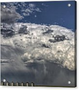 Storm Clouds Thunderhead Acrylic Print by Mark Duffy