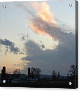 Storm Front At Sunset Acrylic Print