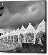 Storm Light On Grain Stacks Not Far Acrylic Print