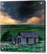 Storm Over Abandoned House Acrylic Print by Jill Battaglia