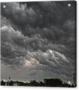 Storm Over Baseball Acrylic Print