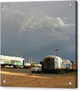 Storm Sky Over The Old Railyard Acrylic Print
