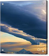 Storms Over Shasta Acrylic Print