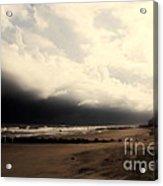 Stormy Beach At The Coast Of South Carolina Acrylic Print
