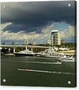 Stormy Fort Lauderdale Acrylic Print