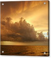 Stormy Gulf Coast Sunset Acrylic Print by Matt Tilghman
