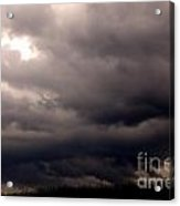 Stormy Sky Over Pasture Acrylic Print