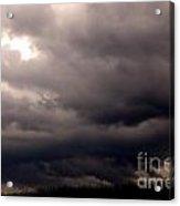 Stormy Sky Over Pasture Acrylic Print by Thomas R Fletcher
