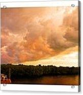 Stormy Sundowner Acrylic Print